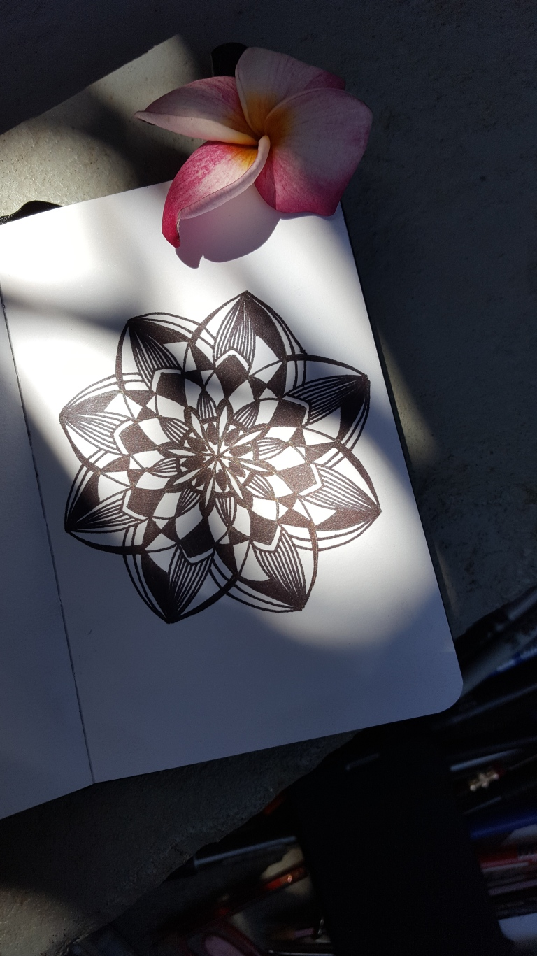 Image of mandala and flower